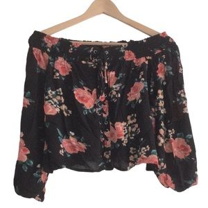 HARLOW Floral Off the Shoulder Top XS